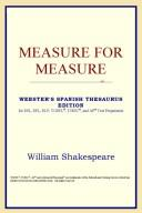 Measure for Measure (Webster's Spanish Thesaurus Edition)