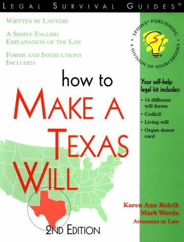 How to make a Texas will