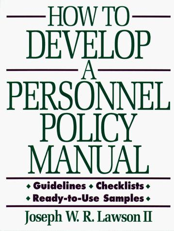 Download How to develop a personnel policy manual