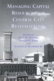 Managing Capital Resources For Central City Revitalization PDF Download