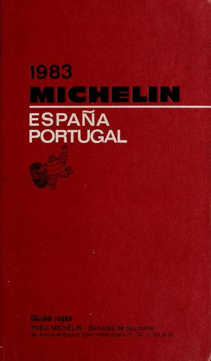 Michelin Red, Spain-Potugual by Michelin Travel Publications