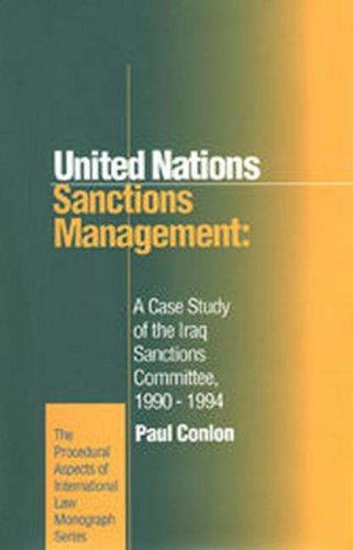 United Nations sanctions management by Paul Conlon