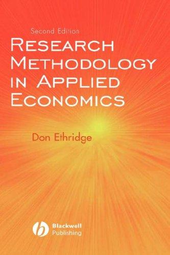 Research Methodology in Applied Economics by Don E. Ethridge